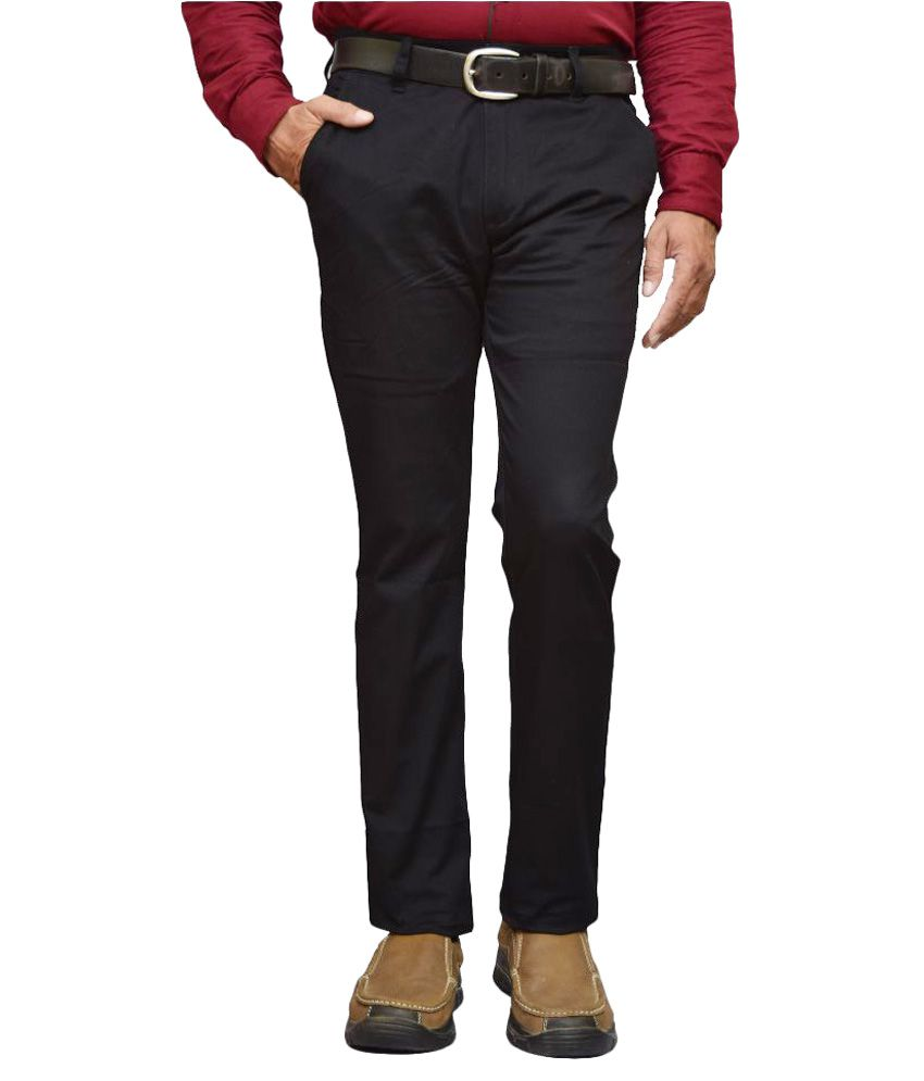 American Noti Black Slim Fit Chinos