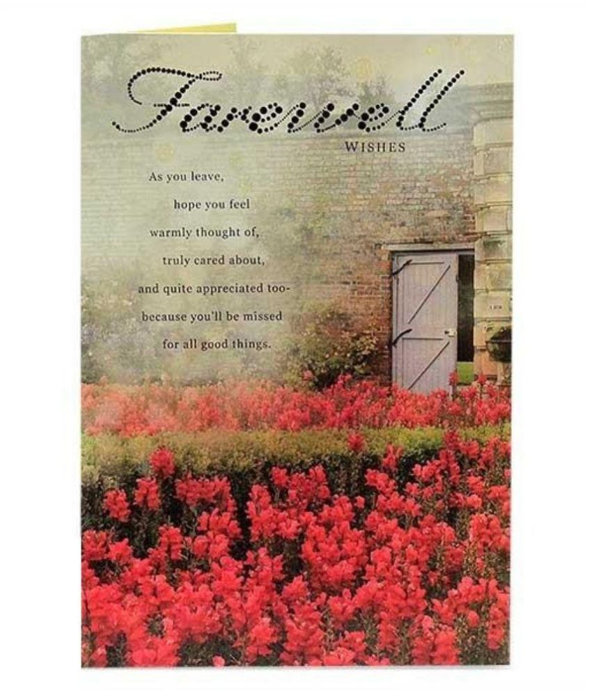 Archies farewell greeting card multicolour buy online at best archies farewell greeting card multicolour m4hsunfo