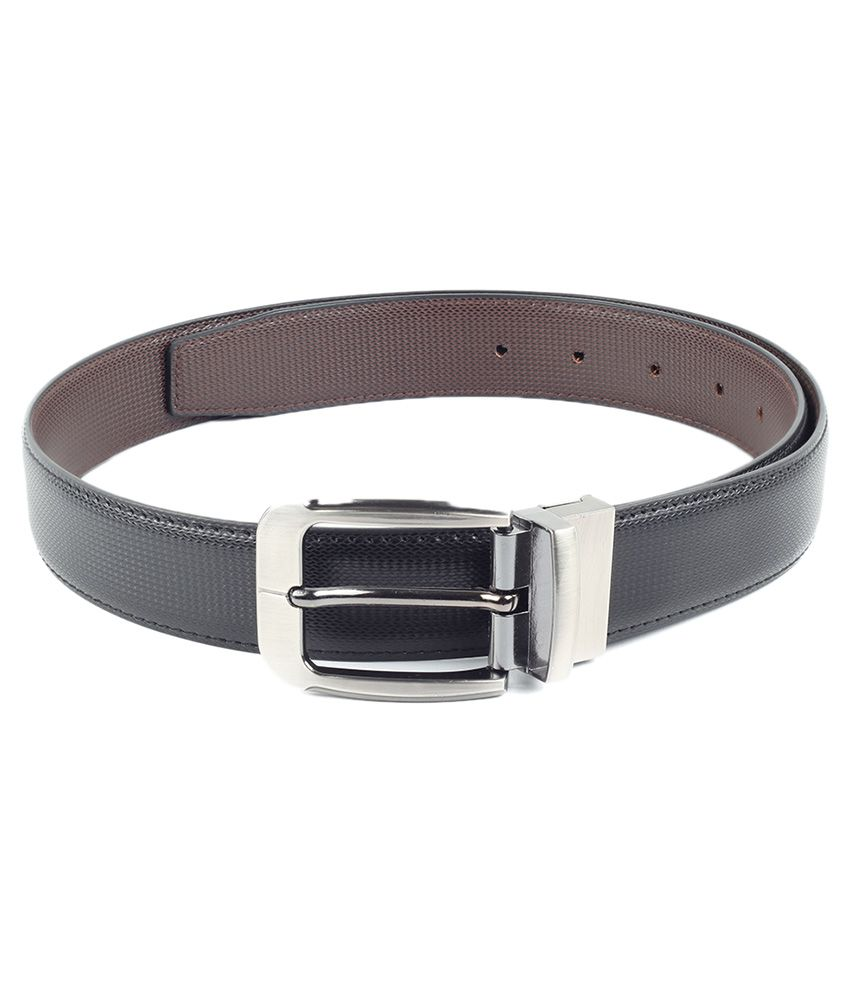 Chisel Black Reversible Formal Belt for Men
