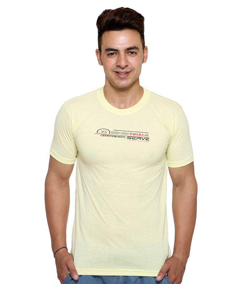Vimal Yellow Round T Shirt