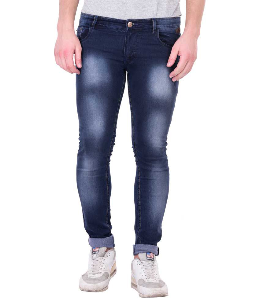 Blue Boat Blue Skinny Fit Washed Jeans