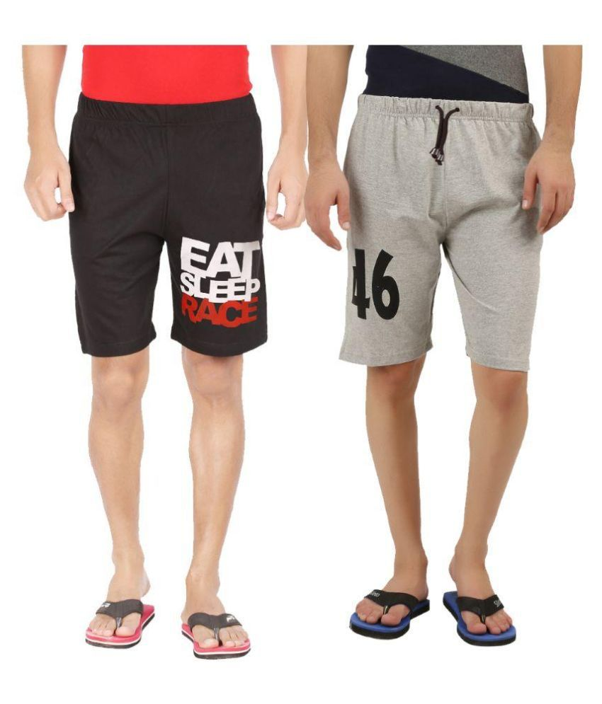 Hotfits Multi Shorts Pack of 2
