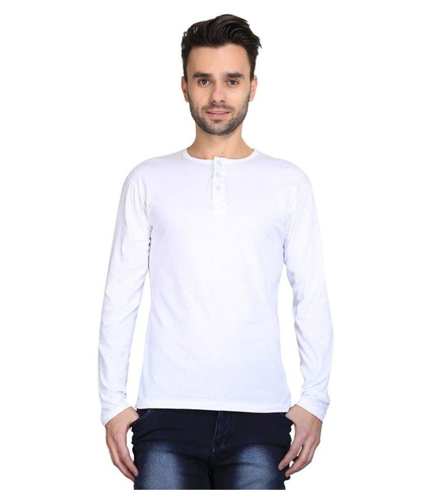 AVE White Henley T Shirt