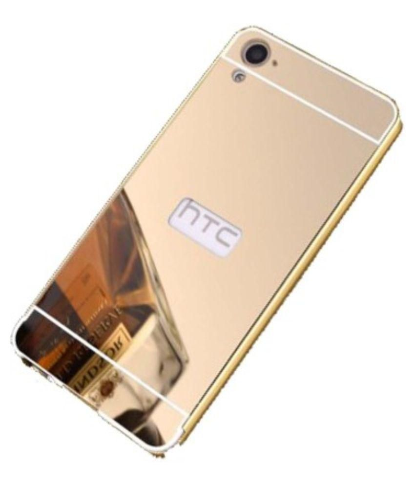 on sale c748e 0ebe7 KTC Golden Mirror Back Cover For HTC Desire 626 Mobile Phone