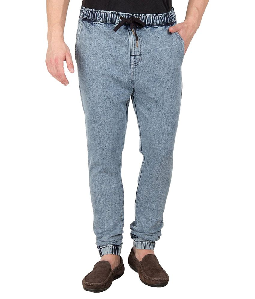 Hypernation Blue Slim Fit Jogger Jeans