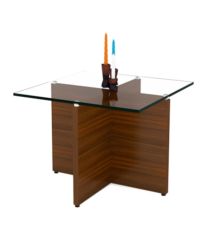 Unicos Claro End Table In Classic Walnut