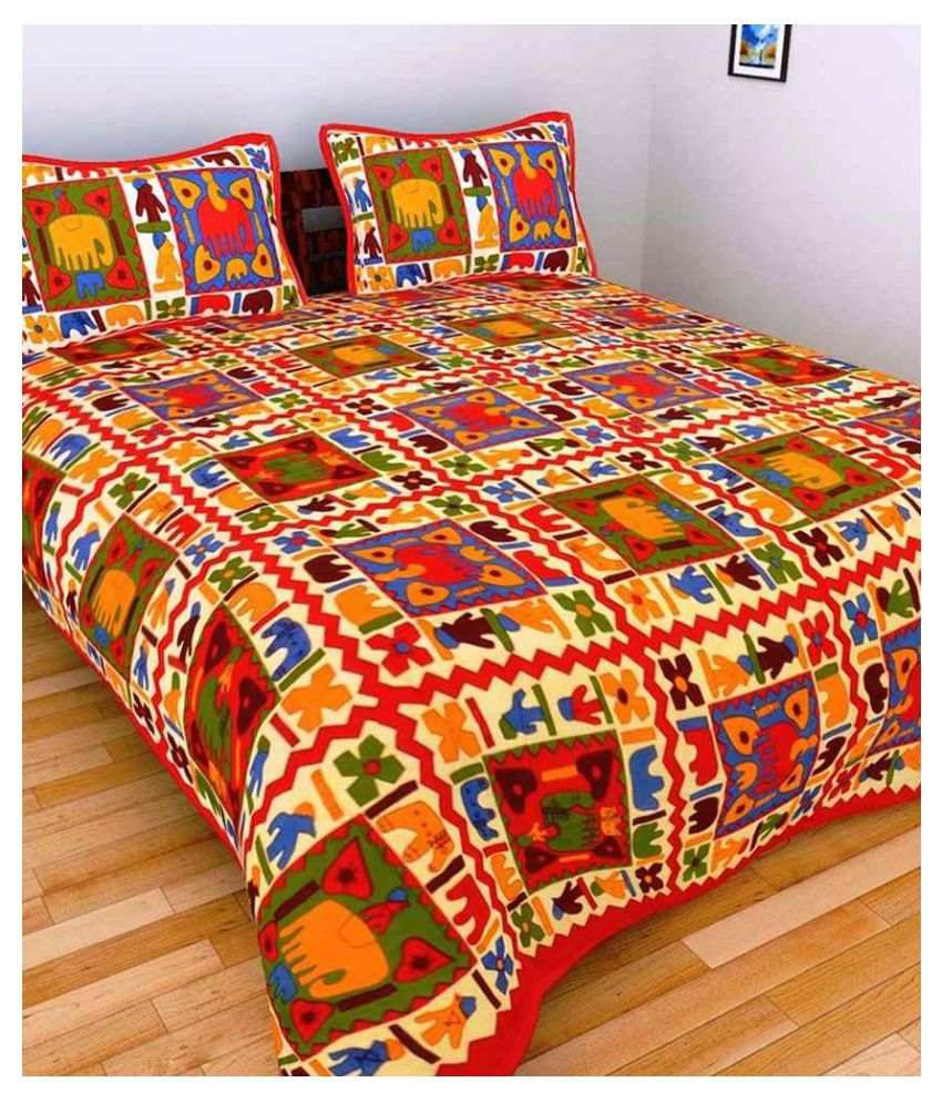 Bombay Spreads King Cotton Traditional Bed Sheet