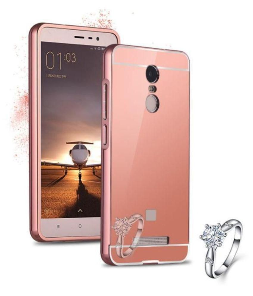 hot sale online 874a2 04419 Xiaomi Redmi Note 3 Cover Combo by PWORLD Luxurious Mirror Back Case Rose  Gold
