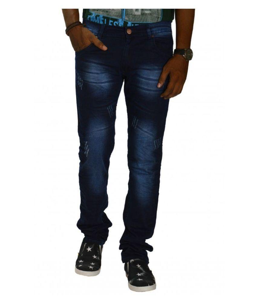 Jugend Navy Slim Fit Distressed Jeans