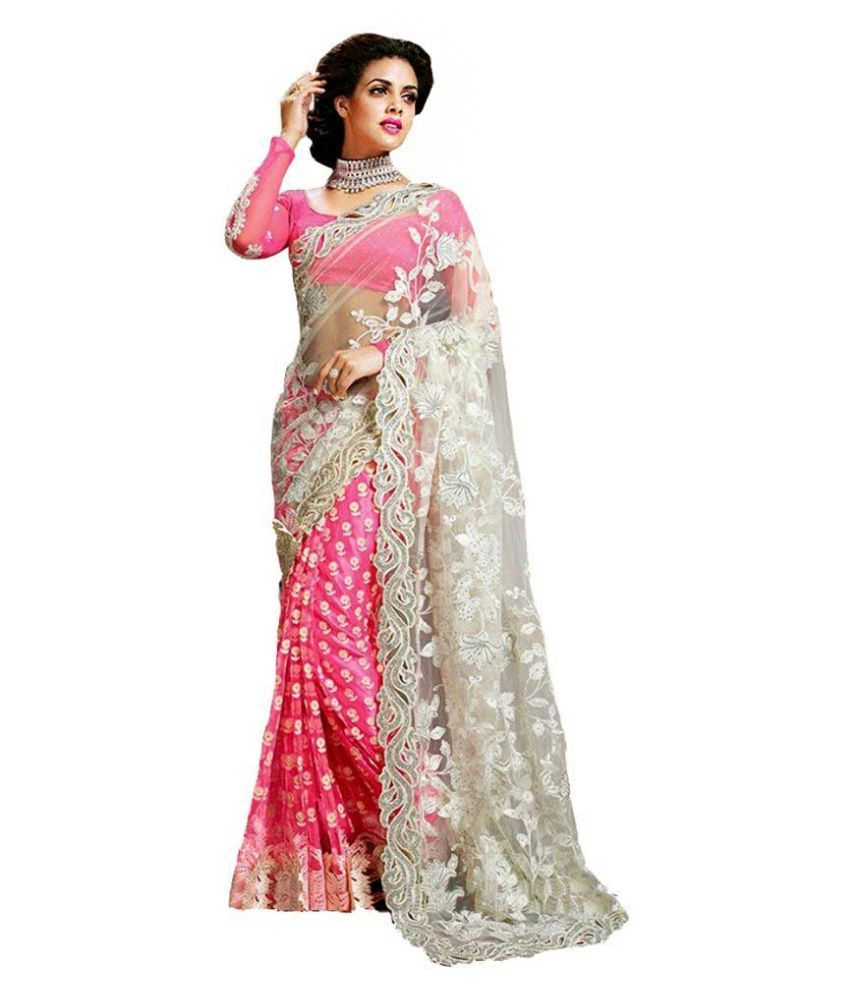 Sareeshop Designer Sarees Pink Net Saree Buy Sareeshop
