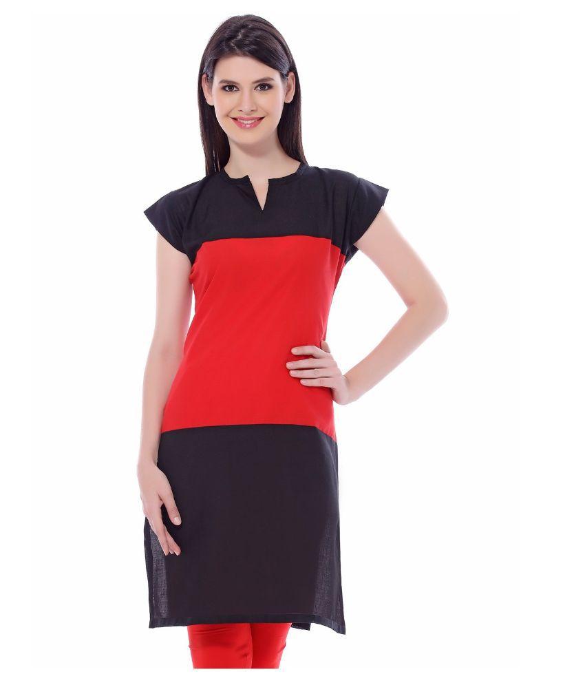 Laxmi Fashion Multicoloured Cotton Straight Kurti