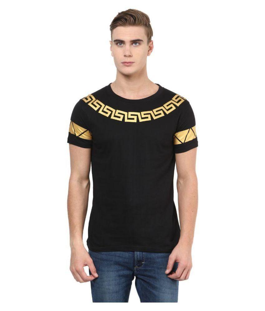 Benoit Black Round T Shirt
