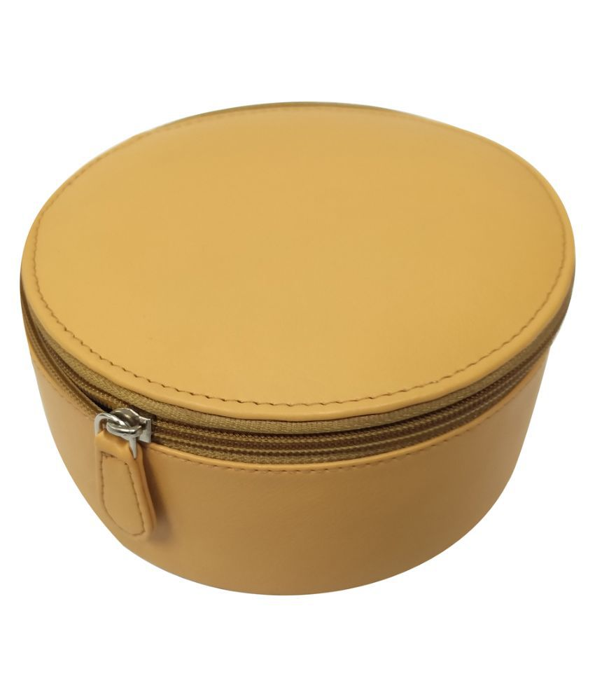 Essart Yellow Leather Jewellery Boxes