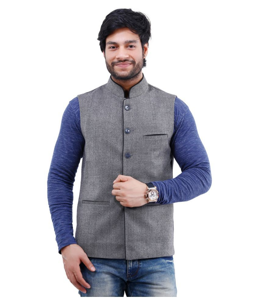 La Mode Grey Formal Waistcoats