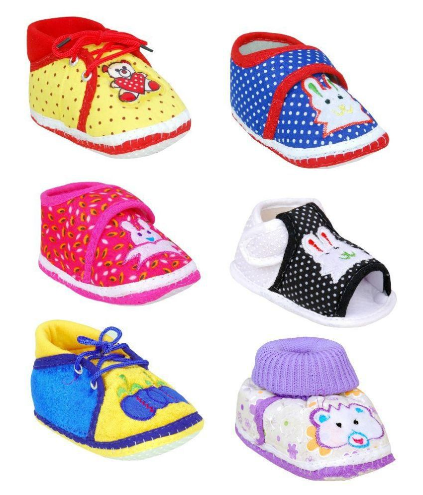 clearance official sale low shipping fee Brats N Angels Multicolour Booties For Kids - Pack of 4 HDTXT