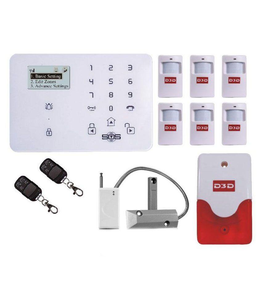 D3d Security D9 With 6 Pir Sensor 1 Wireless Shutter 2 Remote Based System Siren