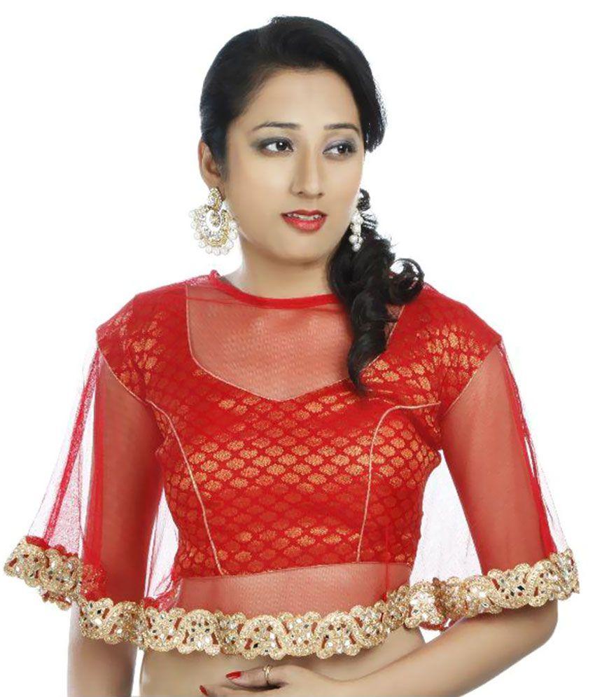 Fadrin Red Silk Blouses