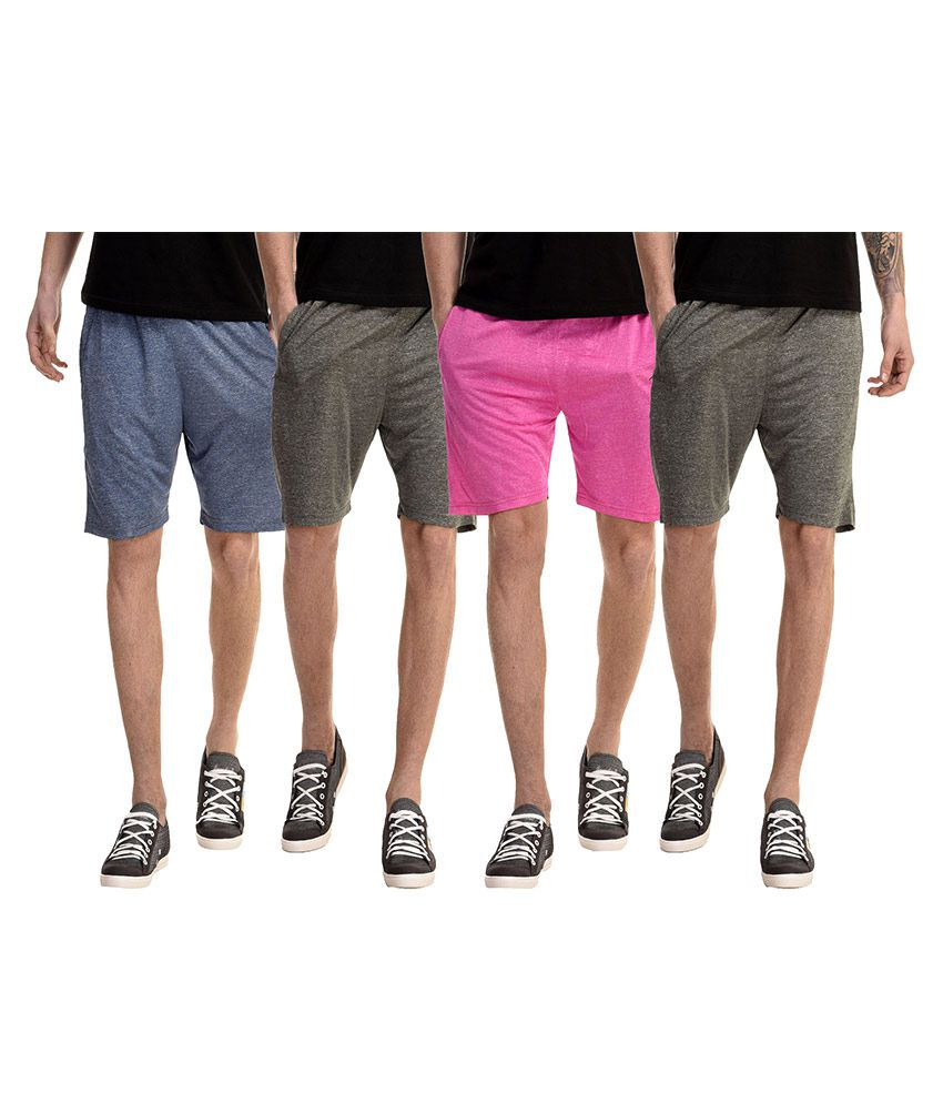 Meebaw Multi Shorts Pack of 4