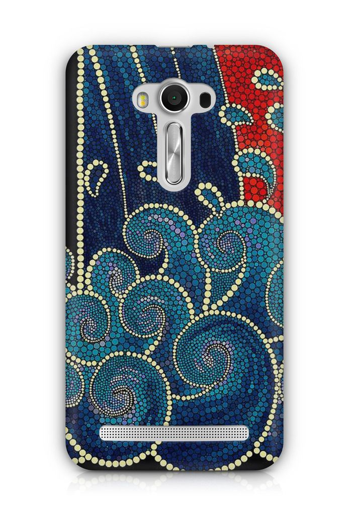 Cover Affair Embroidary Print 3D Printed Back Cover Case for Asus Zenfone 2 Laser ZE550KL