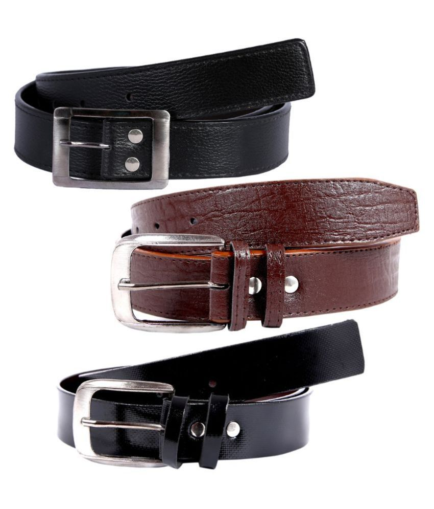 Hardy's Collection Multicolour Casual Belt for Men - Set of 3