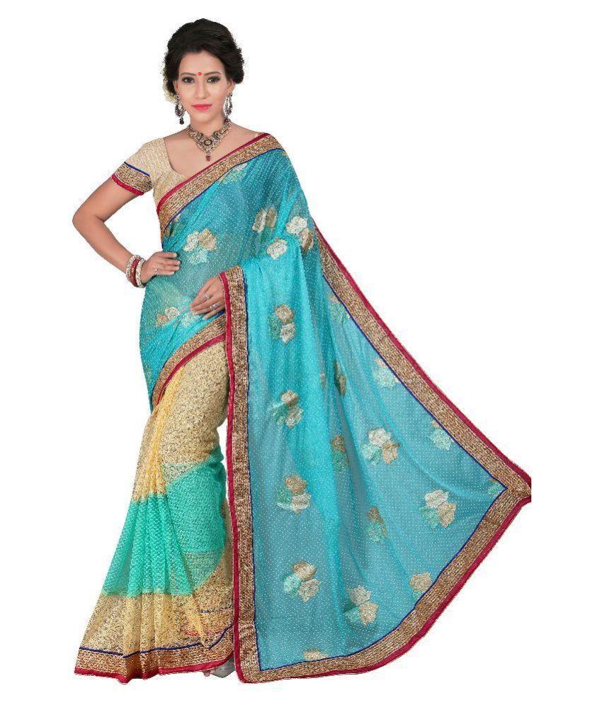 Ativha Saree Multicoloured Net Saree