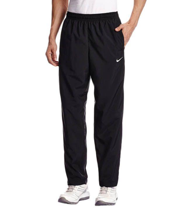 Nike Black Poleyster Track Pants for Men