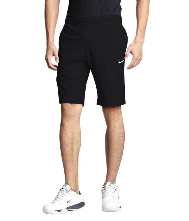 Nike Black Polyester Shorts for Men