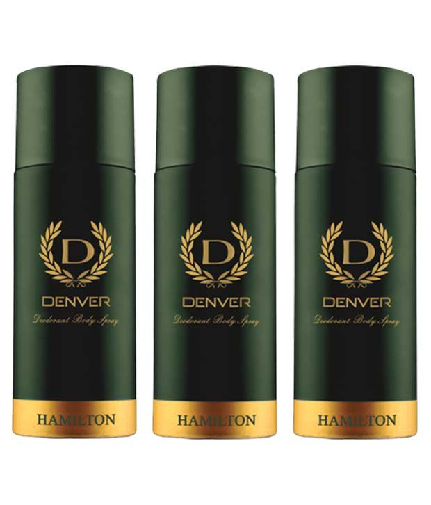 Denver Hamilton Deodorants for Men (Pack of 3 - 165ml each)