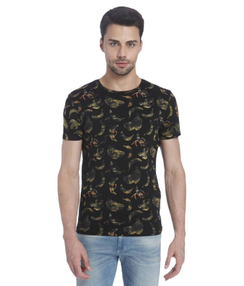 Jack & Jones Black Round T Shirt