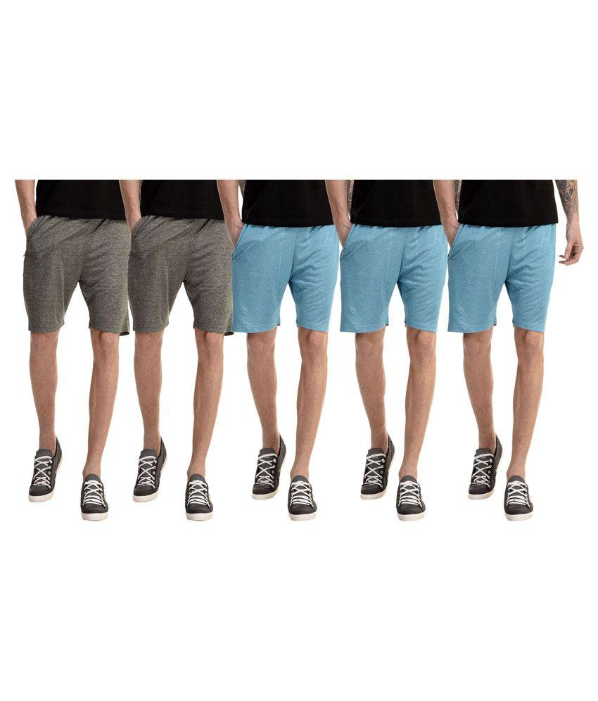 Meebaw Multi Shorts Pack of 5
