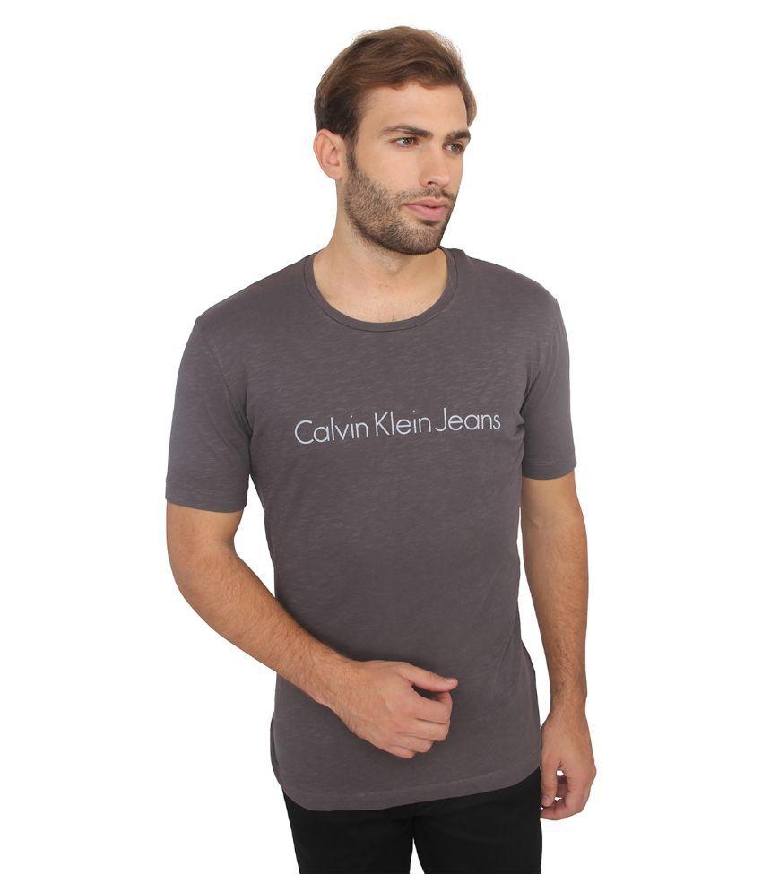 Calvin klein Grey Round T Shirt