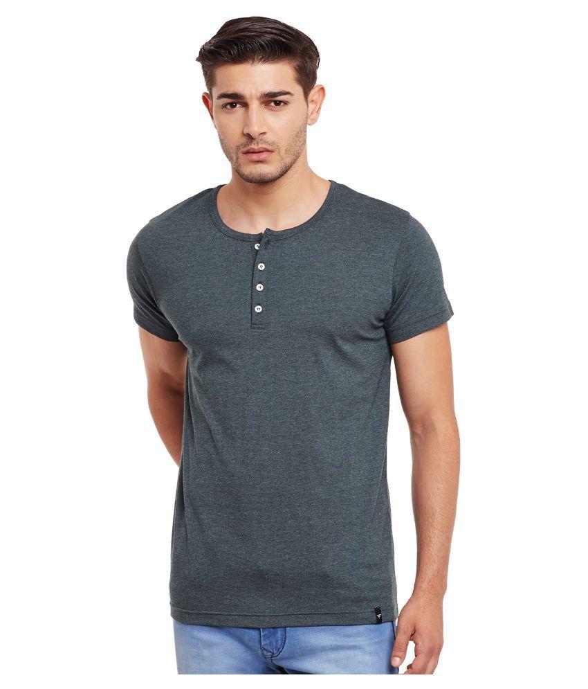 The Vanca Grey Henley T Shirt