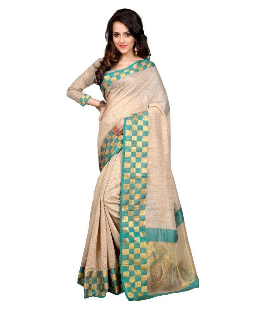 Panchi Beige Art Silk Saree