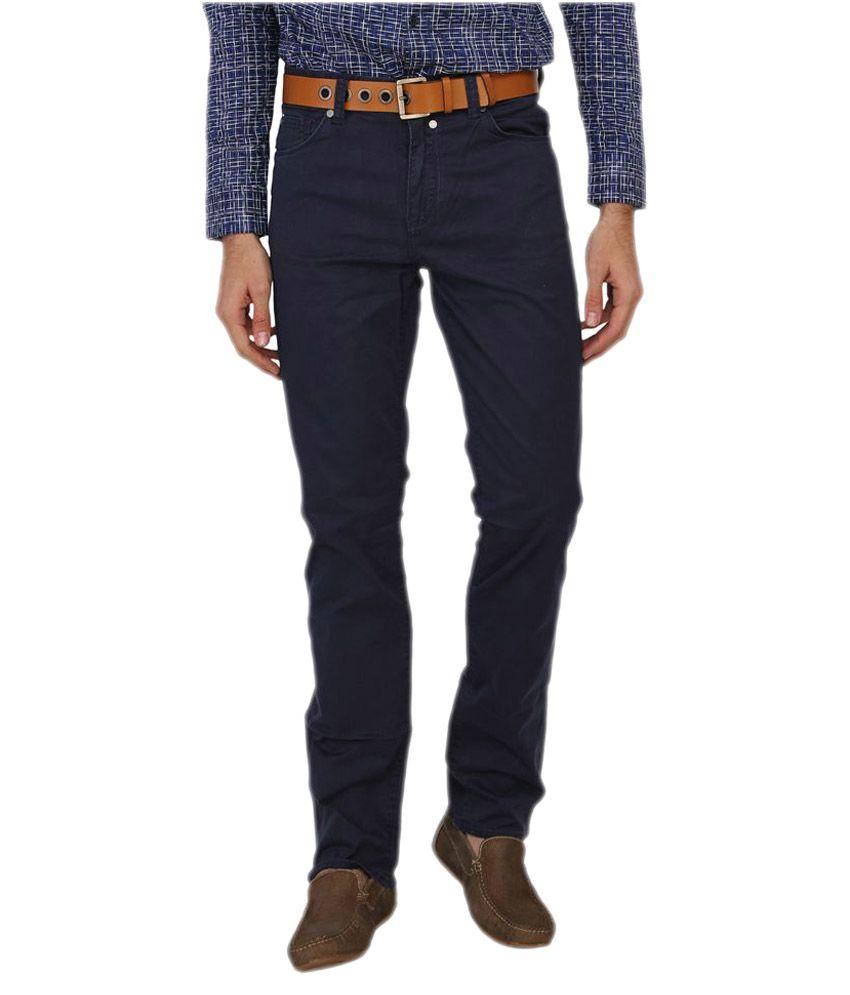 Calvin Klein Navy Slim Fit Solid Jeans