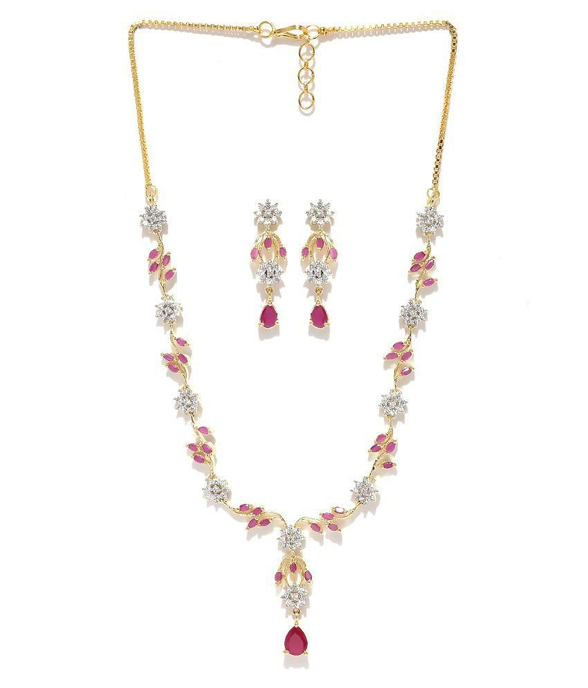 Zaveri Pearls Multicolor Necklace Set