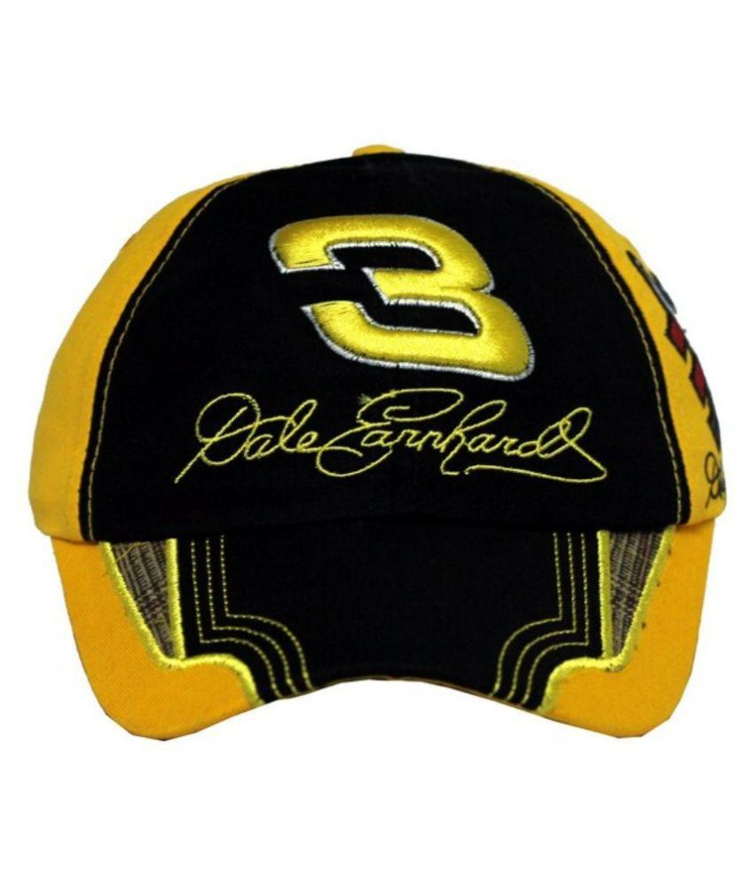 Wild And Wacky Yellow Cotton Cap for Men