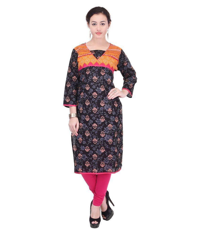 ellegent exports multicoloured cotton straight kurti