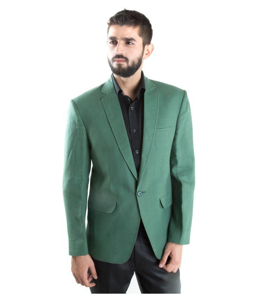 Jahanpanah Green festive Blazers