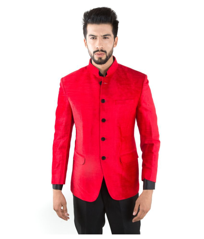 Jahanpanah Red Party Blazers No