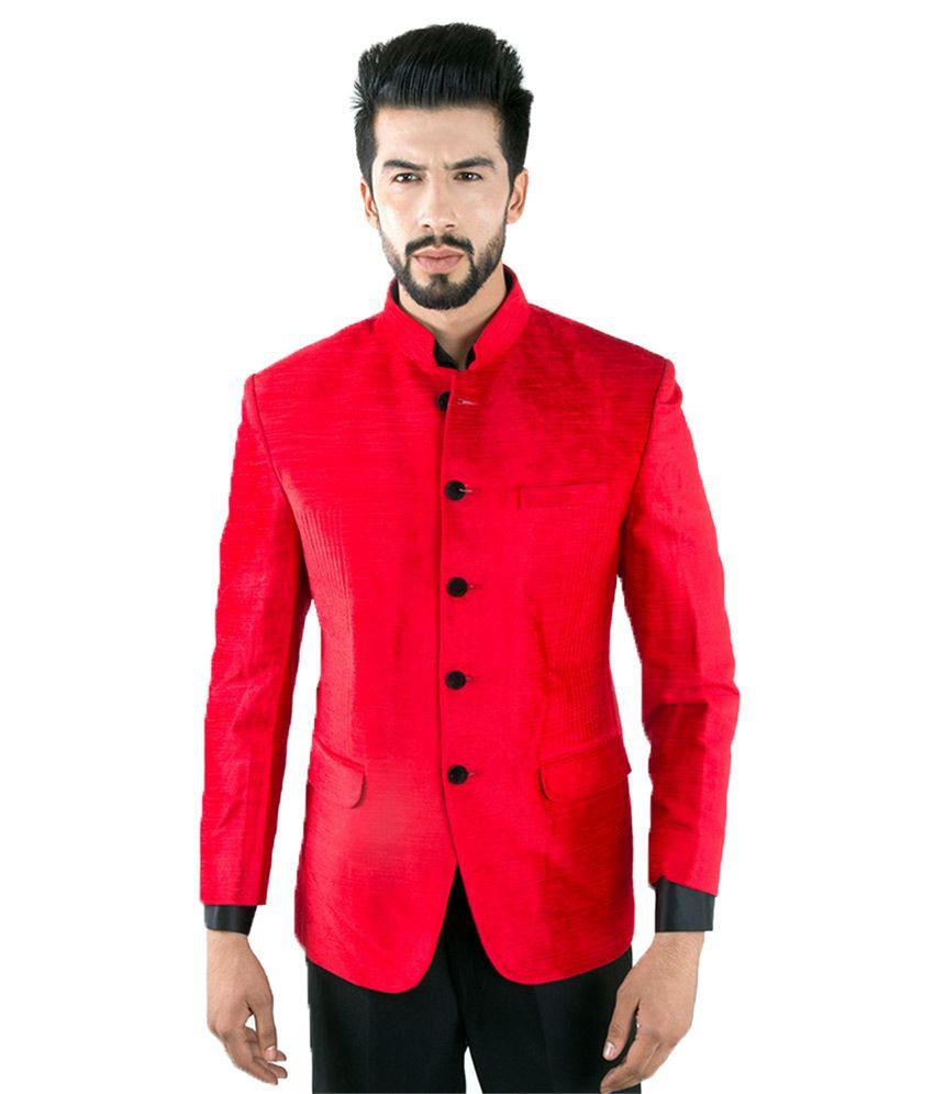 Jahanpanah Red festive Blazers