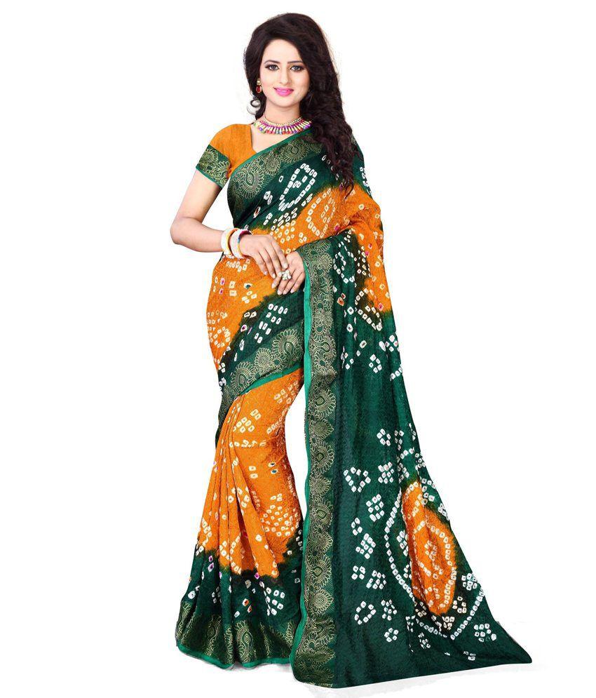 Kuvarba Fashion Multi Color Cotton Silk Saree
