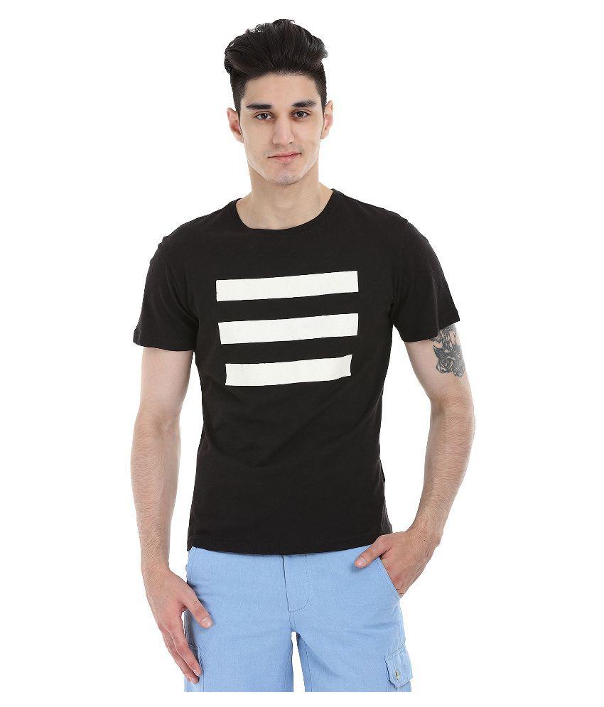 Zobello Black Round T Shirt