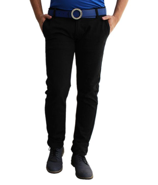 Ben Carter Black Slim Fit Solid Jeans