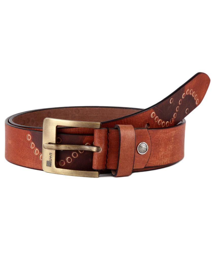 U+N Brown Leather Belt