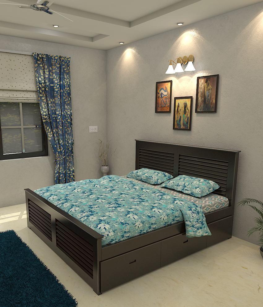 Universal Doors Solid Wood King Size Storage Bed Buy