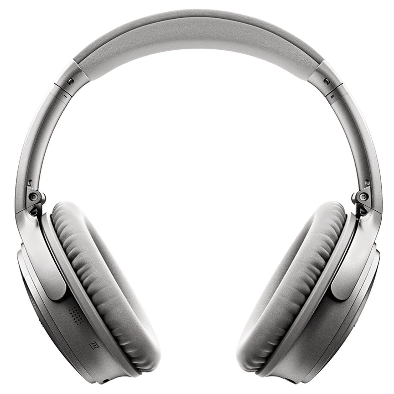 bose wireless headphones in ear. bose quietcomfort 35 wireless headphones silver in ear