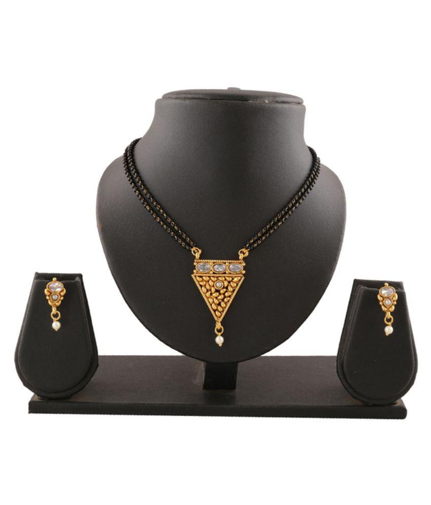 Anuradha Art Gold Mangalsutra Set