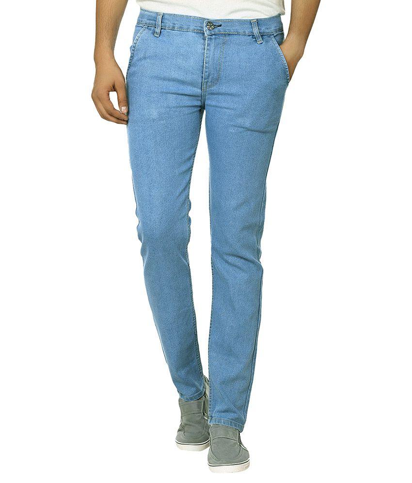 Ben Carter Blue Slim Fit Solid Jeans