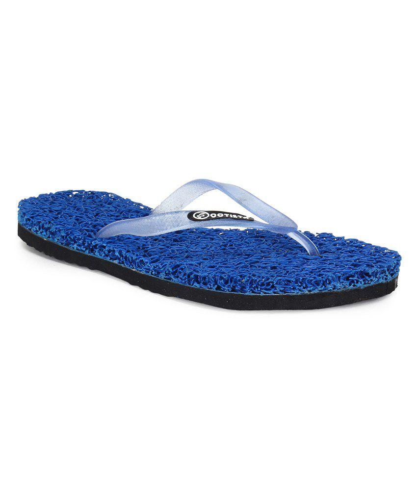 Footista Blue Flip Flops
