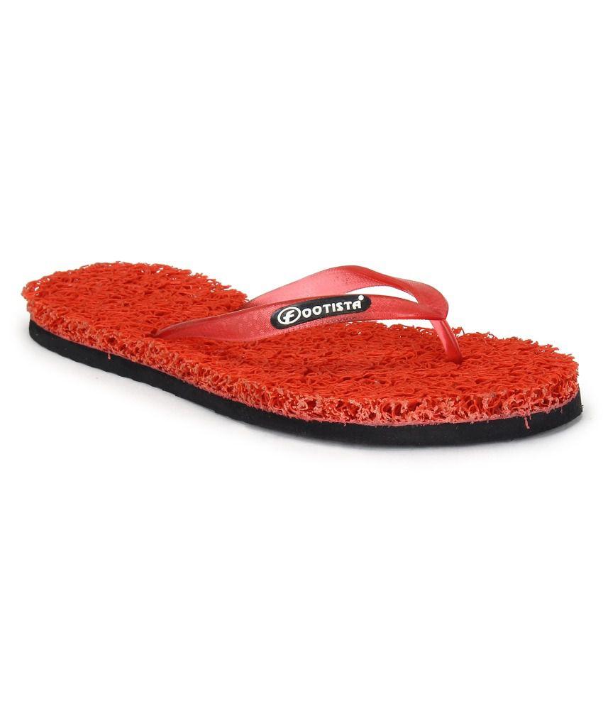 Footista Red Flip Flops